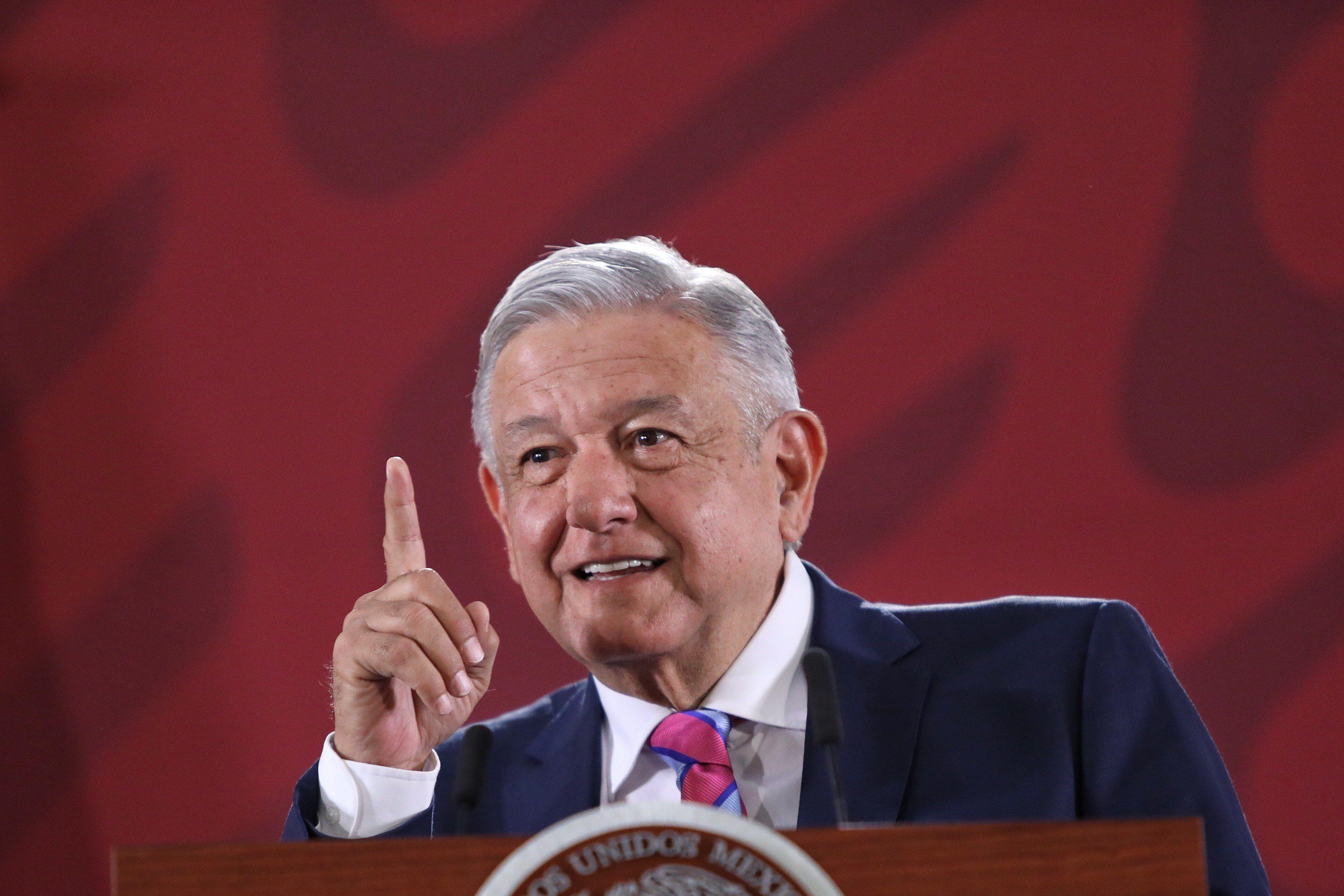 El presidente de México, Andrés Manuel López Obrador, durante una rueda de prensa matutina, en Ciudad de México. EFE/Sáshenka Gutiérrez/Archivo
