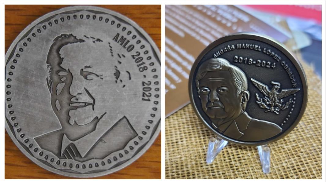 La broma que se convirtió en realidad: así son las monedas con la cara de López Obrador