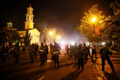 Protetas en Washington. REUTERS/Jim Bourg
