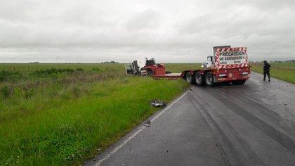 El segundo accidente fue en la Ruta Provincial 51 a la altura de la ciudad de Laprida