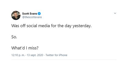 Chris Evans's brother's message