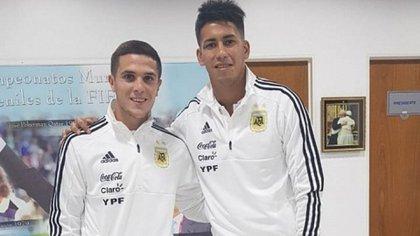 Fabricio Bustos y Maxi Meza, de Independiente, los primeros en pasar por Ezeiza