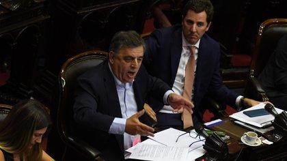 El jefe del interbloque Juntos por el Cambio en Diputados cuestionó la iniciativa (foto: Maximiliano Luna)