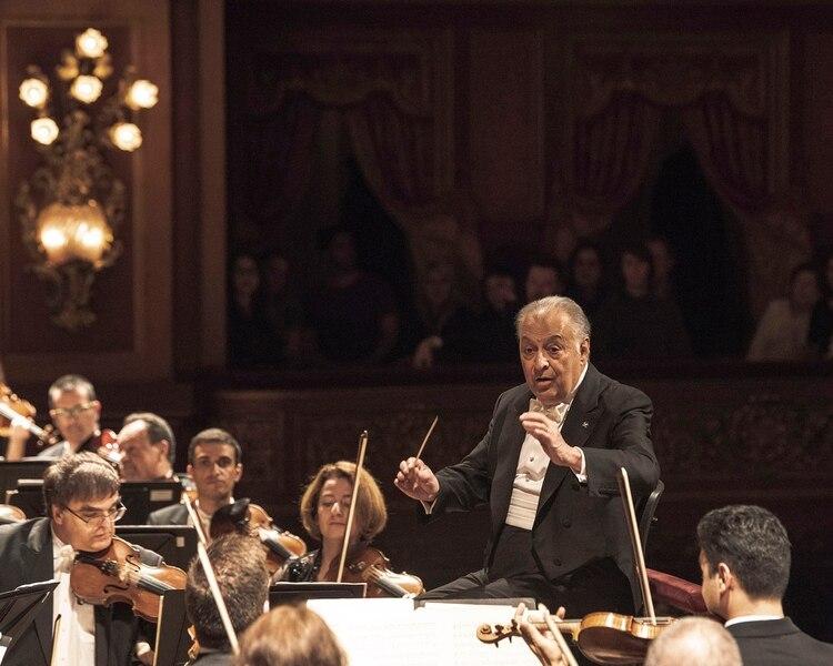 Zubin Mehta, al frente de la Orquesta Filarmónica de Israel. Fotos: Arnaldo Colombaroli