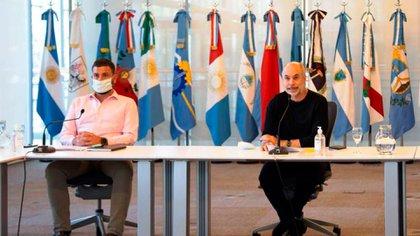 Rodríguez Larreta y Delfino, en la presentación de la Plataforma de Cooperación Urbana Federal