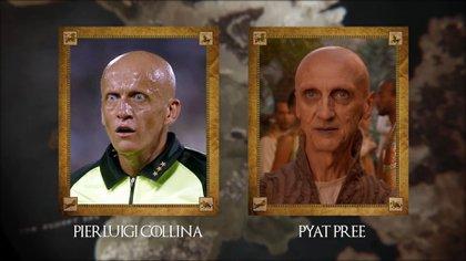 Pierluigi Collina (ex árbitro italiano) con Pyat Pree