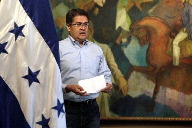 Juan Orlando Hernández, presidente de Honduras desde 2014 (REUTERS/Jorge Cabrera)