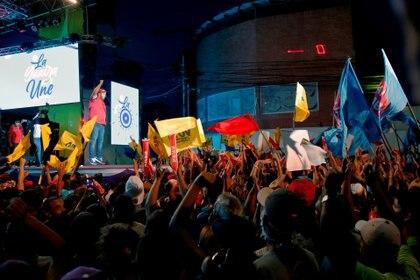 Nicolás Maduro Guerra, haciendo campaña en La Guaira, Venezuela.  REUTERS / Manaure Quintero