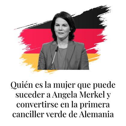 La líder del Partido Verde alemán y candidata a la Cancillería, Annalena Baerbock, durante una conferencia de prensa en Berlin. REUTERS/Annegret Hilse.