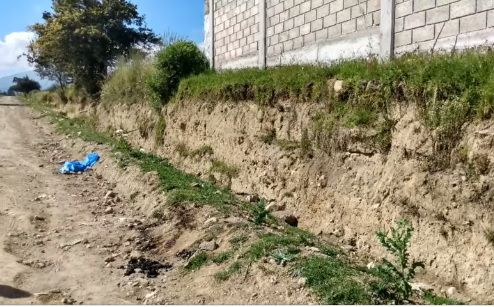En este paraje fue abandonado el cadáver de la mujer de entre 25 y 30 años, es el séptimo en lo que va del año en el estado Foto: Facebook