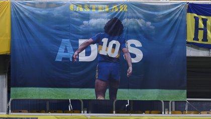 En el partido que jugó Boca frente al Inter de Porto Alegre en La Bombonera Diego Maradona estuvo presente. Foto: REUTERS/Marcelo Endelli