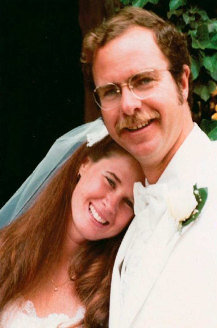 La imagen del casamiento de Dianne Lake con su marido Todd, en 1979