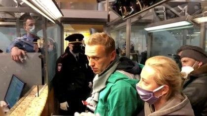 Navalny fue arrestado al llegar a Rusia (REUTERS)