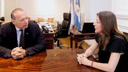 Sabina Frederic y Sergio Berni.