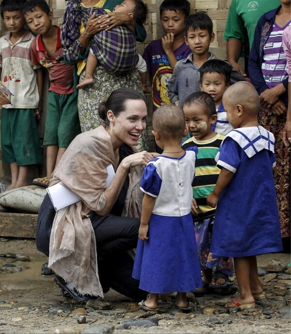 Angelina Jolie durante un anterior viaje a Birmania