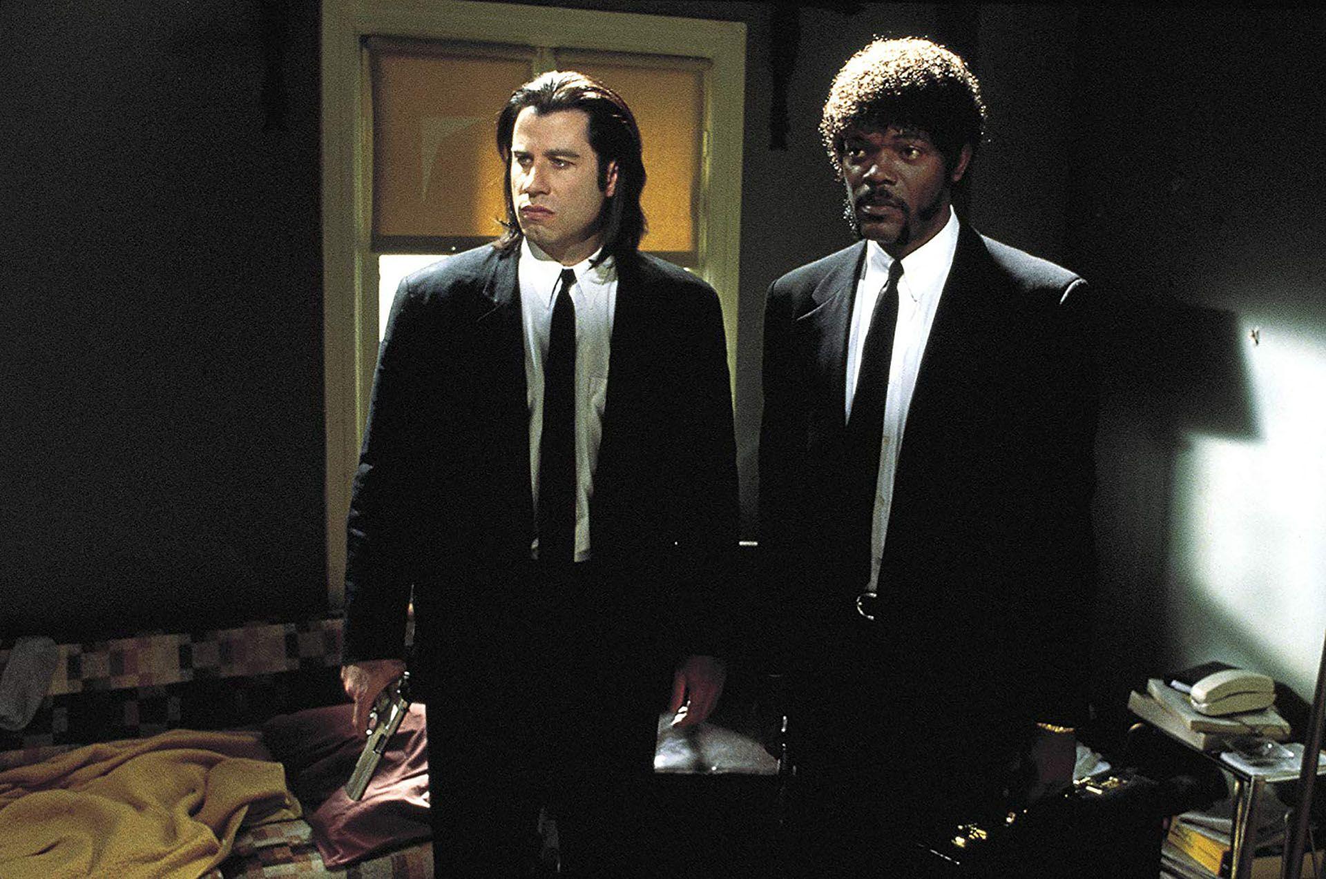 "John Travolta y Samuel L Jackson en ""Pulp Fiction"""