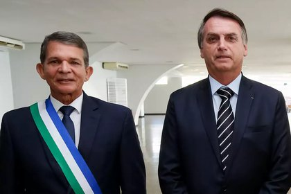 Joaquim Silva e Luna y el presidente de Brasil, Jair Bolsonaro