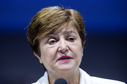 La directora gerente del Fondo Monetario Internacional (FMI), Kristalina Georgieva (EFE/EPA/ERIK S. LESSER/Archivo)