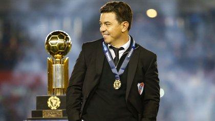Marcelo Gallardo se convirtió en el técnico más ganador en la historia de River (Nicolás Aboaf)
