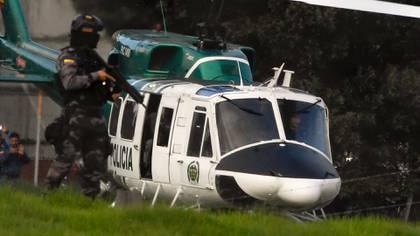 El operativo en torno a la breve liberación de Santrich. (AFP)