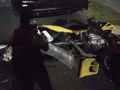 Así quedó la motocicleta (Foto: Cortesía familia del afectado)