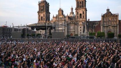 Ciudad de México, México, el acto se realizó en el Zócalo capitalino El acto se realizó en el Zócalo capitalino (Foto: Graciela López /cuartoscuro)
