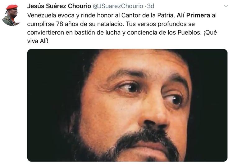 El texto de Jesús Suárez Chourio