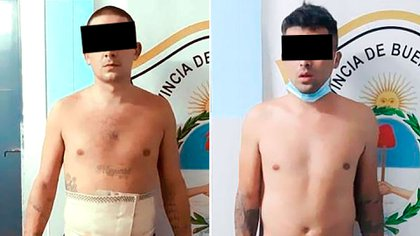 Those arrested for robbery are Julio Vázquez César (27 years old) and Matías Nicolás Cofano (29 years old).  One of them fled armed, but managed to catch him.