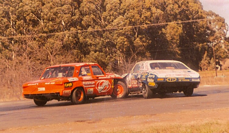 Uno de sus últimos rounds, en 1989, cuando Castellano ya corría con Ford y Mouras con Chevrolet (Archivo CORSA).