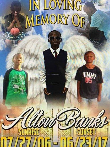 El homenaje que Shantell Banks le realizó a su hijo Alton Banks, muerto el pasado 23 de junio (Facebook)