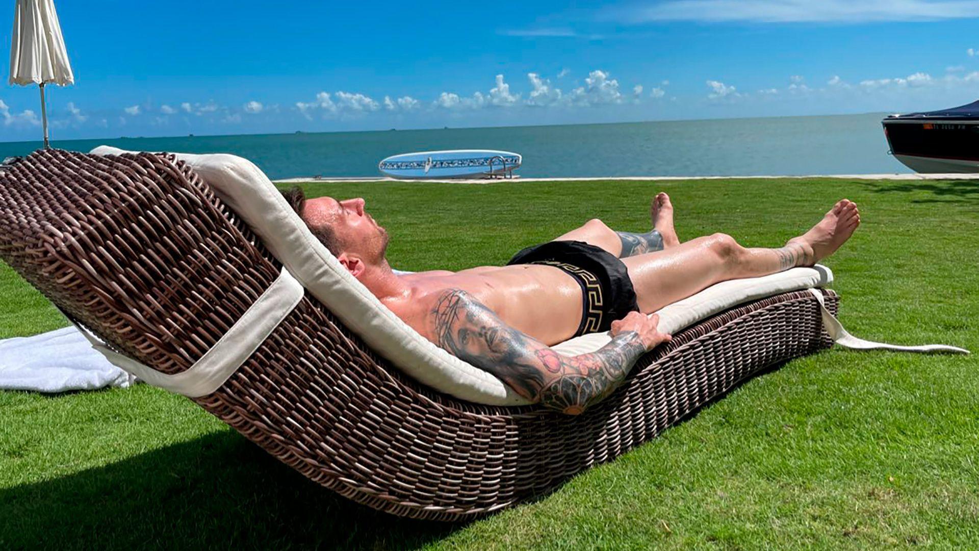 Messi y Antonela Roccuzzo de vacaciones en Miami