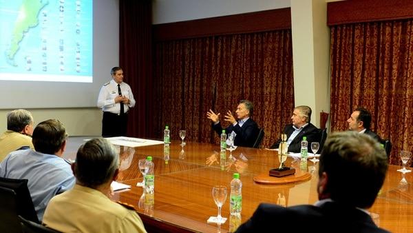 Srur durante una de las reuniones con el presidente Macri