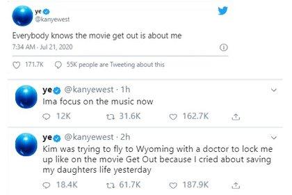 Los mensajes ya no aparecen en la cuenta de Kanye