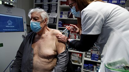 Vaccinated with AstraZeneca in France.  REUTERS