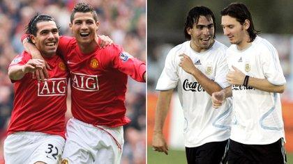 Tevez es uno de los pocos jugadores del mundo que jugaron con Cristiano Ronaldo y Lionel Messi