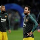 Soccer Football - Champions League - Round of 16 First Leg - Napoli v FC Barcelona - Stadio San Paolo, Naples, Italy - February 25, 2020 Barcelona's Lionel Messi during the warm up before the match REUTERS/Ciro De Luca