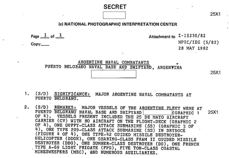 En 2012 se desclasificaron documentos que comprobaron las sospechas de que EEUU había brindado ayuda de inteligencia a Gran Bretaña durante el conflicto de 1982.