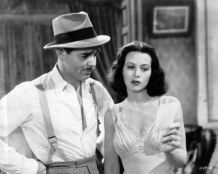 """Clark Gable y Hedy Lamarr en """"Camarada X""""."""