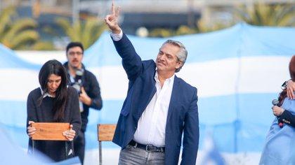 Alberto Fernández, durante la campaña electoral de 2019