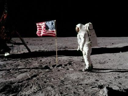Fotografía del astronauta Buzz Aldrin en el alunizaje de 1969 (Neil Armstrong/NASA/Handout via REUTERS/File Photo)