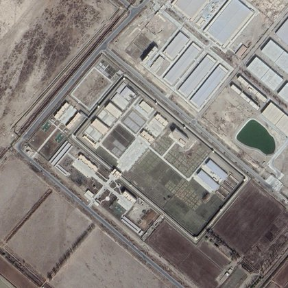 La instalación de Aral, cerca de Kashgar, en enero de 2020 (Fuente: Maxar a través de Google Earth)
