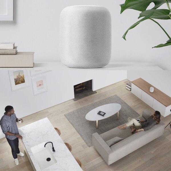 El Home Pod de Apple es una alternativa costosa que ofrece el tradicional diseño minimalista de la firma de Cupertino