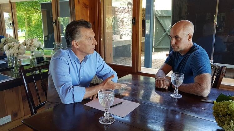 Mauricio Macri y Horacio Rodríguez Larreta, el año pasado, en Villa La Angostura