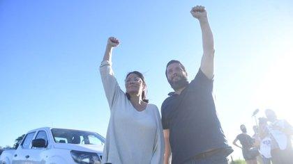 Dolores Etchevehere y su saludo de agradecimientos a los manifestantes que apoyaron el Proyecto Artigas