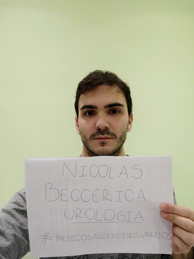 Nicolás Beccerica, médico argentino varado en Barcelona.