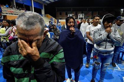Funeral de los cinco líderes indígenas masacrados en Tacueyo (Cauca) a fines de octubre pasado.