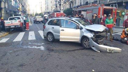 El conductor del vehículo particular no resultó herido