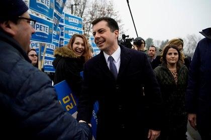 Pete Buttigieg en New Hampshire. REUTERS/Eric Thayer