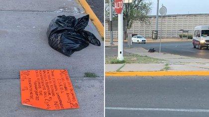 En Celaya, Guanajuato, abandonaron restos de cadáveres en distintas partes de la ciudad (Foto: Twitter/@InfoRoja_Mx)