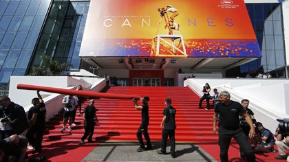 Los preparativos del Festival de Cannes, en Francia (REUTERS/Stephane Mahe)